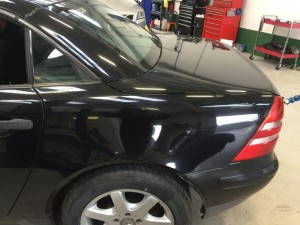 DentSmart Ltd customer dent repair - Mercedes B